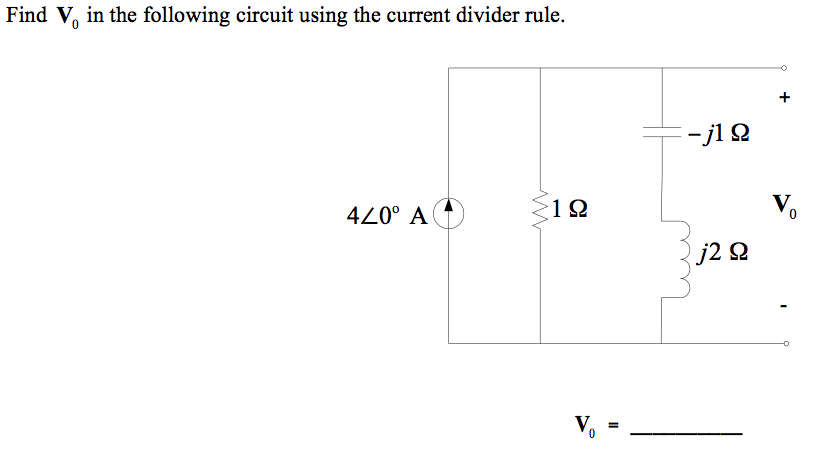 Find V0 in the following circuit using the current
