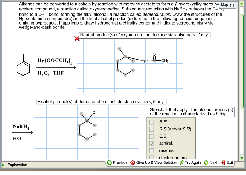 Alkenes can be converted to alcohols by reaction w