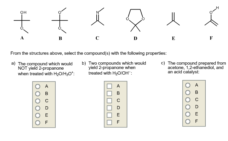 From the structures above, select the compound(s)