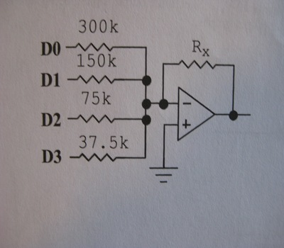 Determine the value for the feedback resistor Rx t