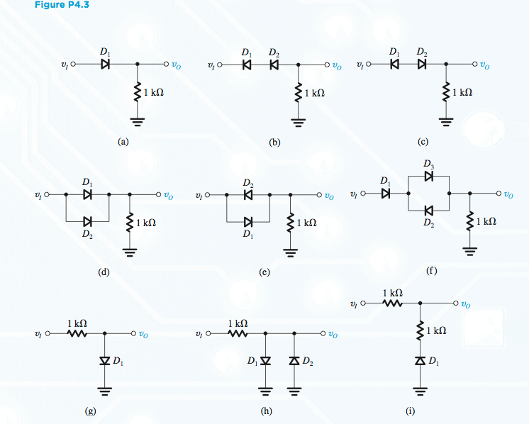4.3 For the circuits shown in Fig. P4.3 using idea