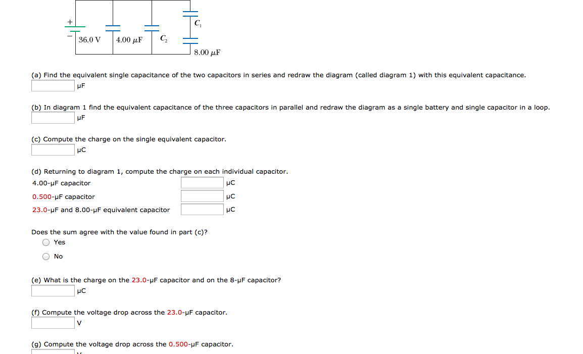 Find the equivalent single capacitance of the two