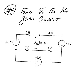 Find the V0 for the given circuit