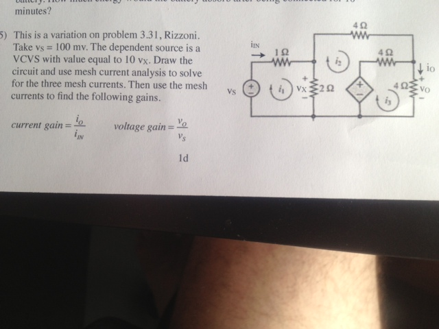 This is a variation on problem 3.31, Rizzoni. Take