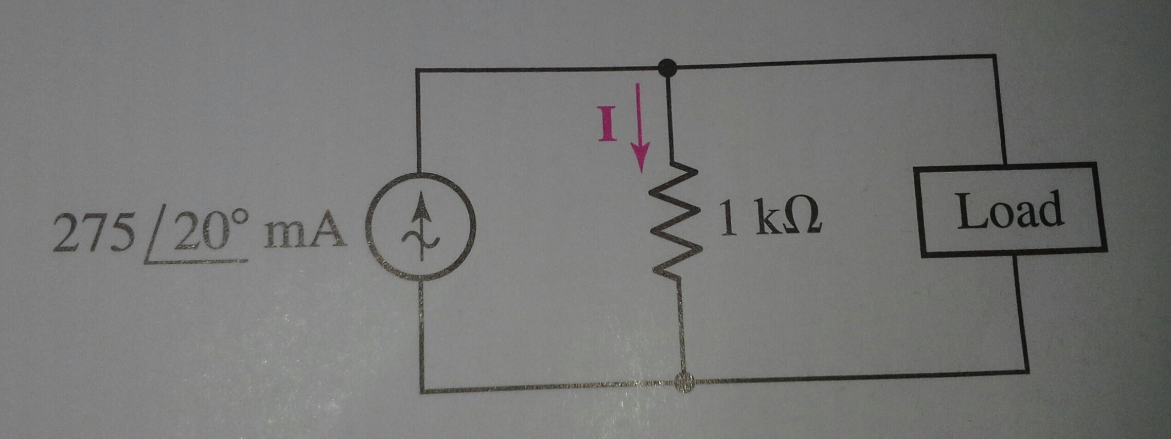 Determine the load impedance for the circuit depic