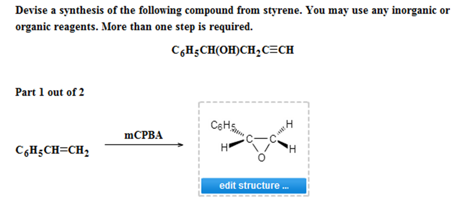 Devise a synthesis of the following compound from