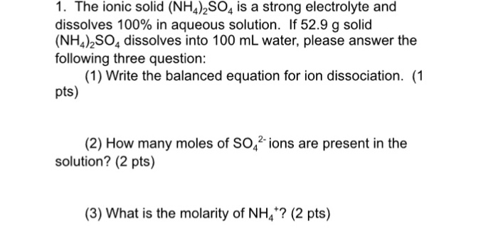 What is NH4?