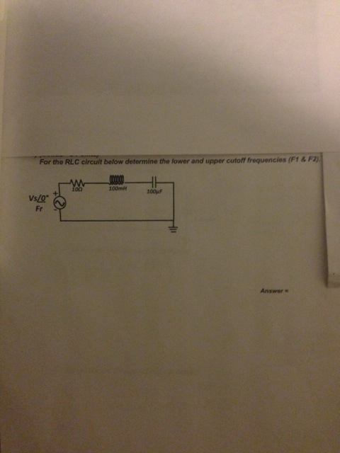 For the RL circuit below determine Find the total