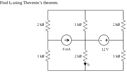 Find I0 using Thevenin's theorem.