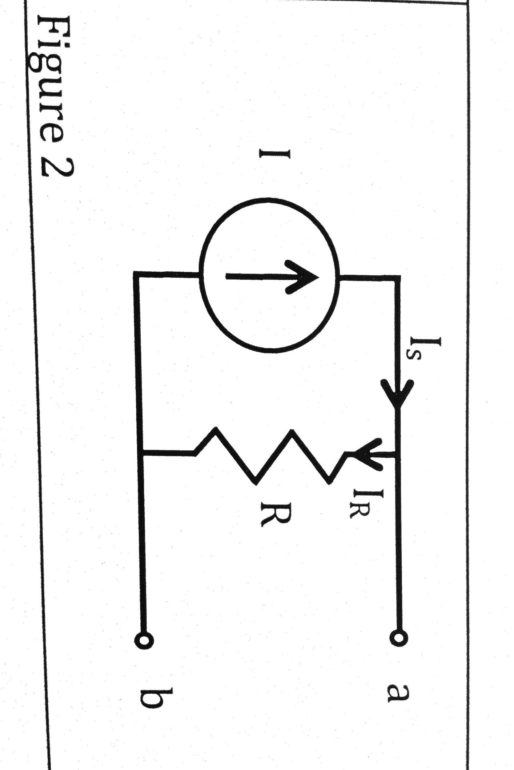 In Figure 2, I = 2 A and R = 5 Ohms. What is Vab?