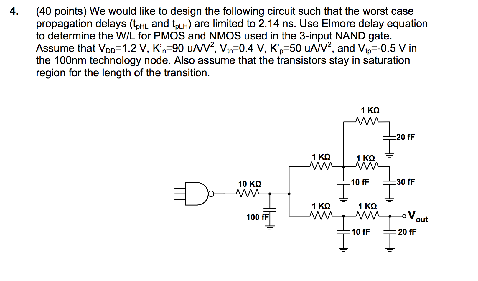 We would like to design the following circuit such