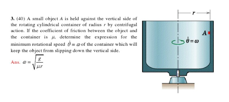 (40) A small object A is held against the vertical