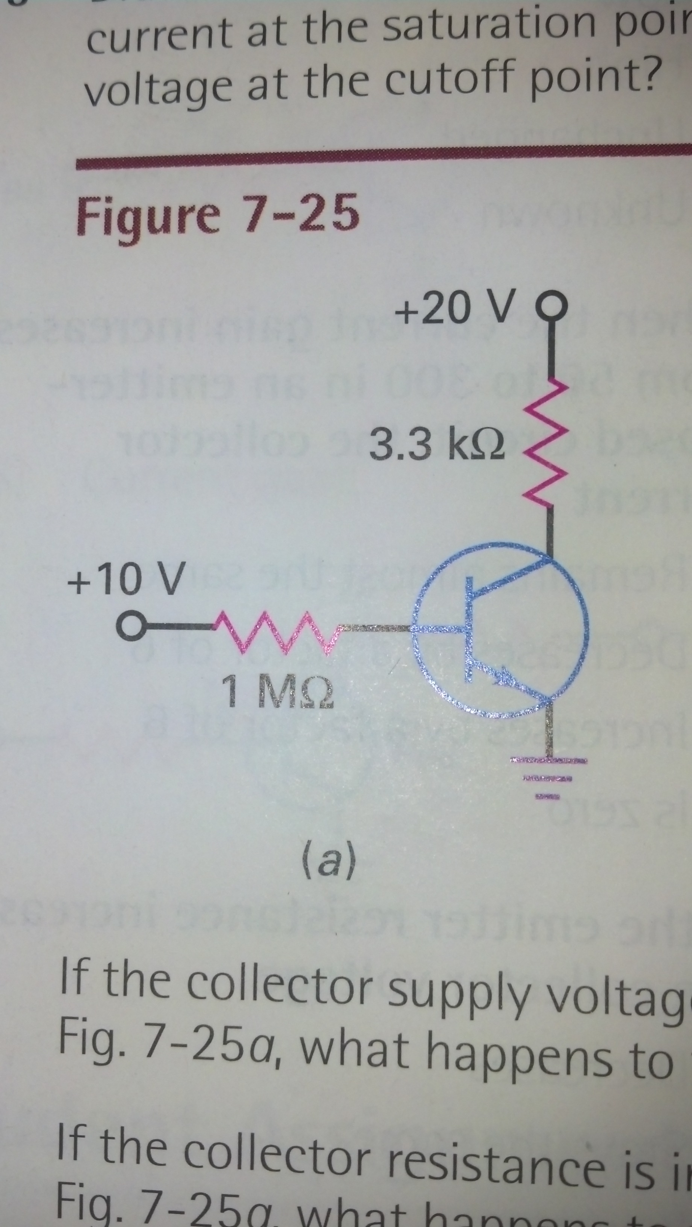 7-10 In fig 7-25a, what is the voltage between the