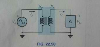 If Np = 400, Ns = 1200, and Vg = 100 V. find the m