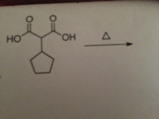 Show the mechanism for this reaction when heat is