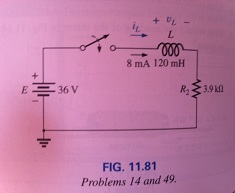 For the circuit in Fig.11.81: a. Write the mathema
