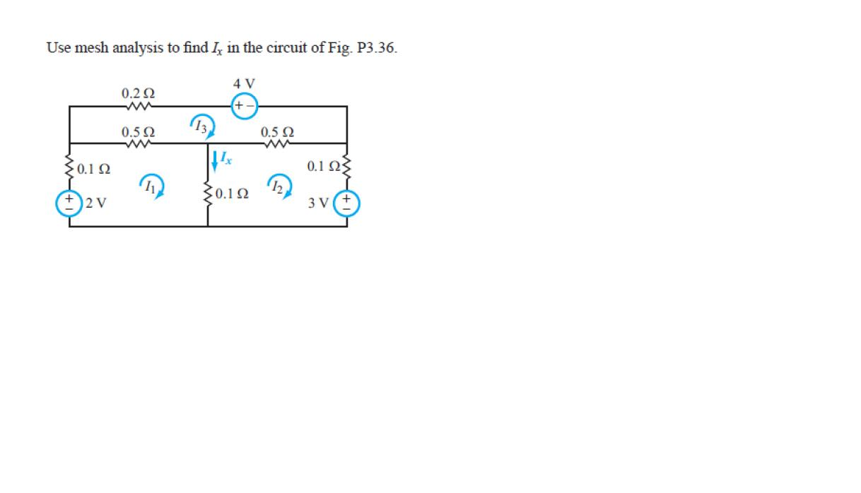Use mesh analysis to find Ix in the circuit of Fig