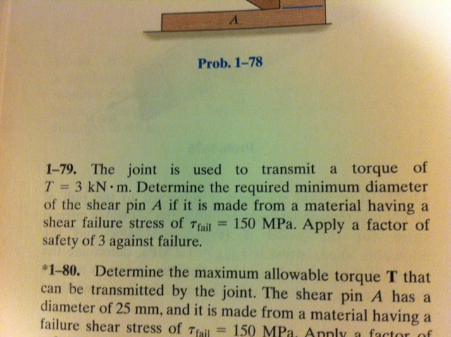 The joint is used to transmit a torque of T = 3 kN
