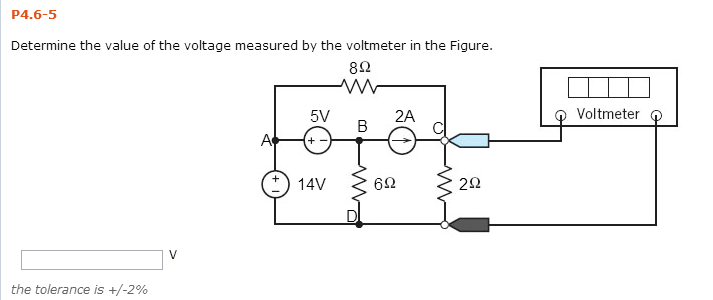 Determine the value of the voltage measured by the