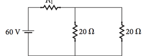 What is the current in the R1 = 35 ? resistor in t