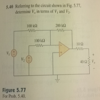 Referring to the circuit shown in Fig. 5.77. dete