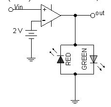In the circuit below, which LED glows when Vin i