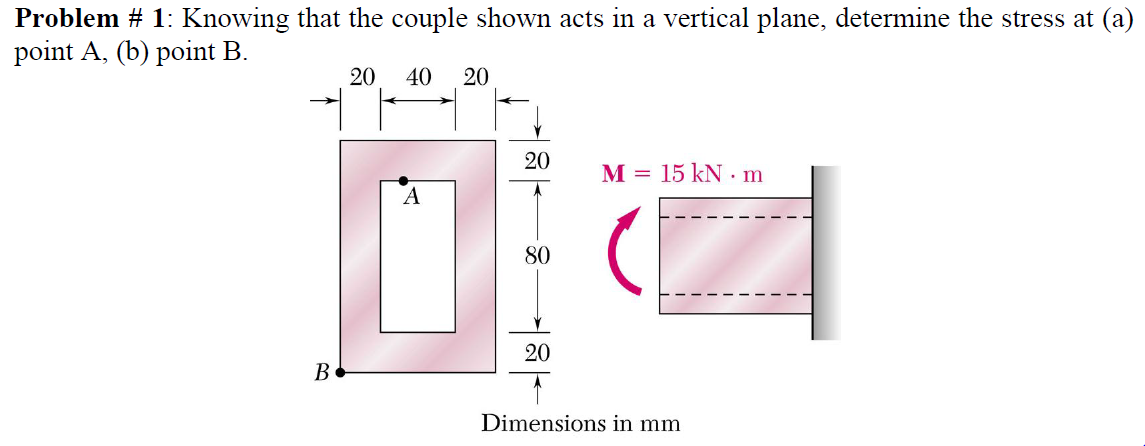 Knowing that the couple shown acts in a vertical p
