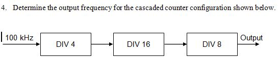 Determine the output frequency for the cascaded co