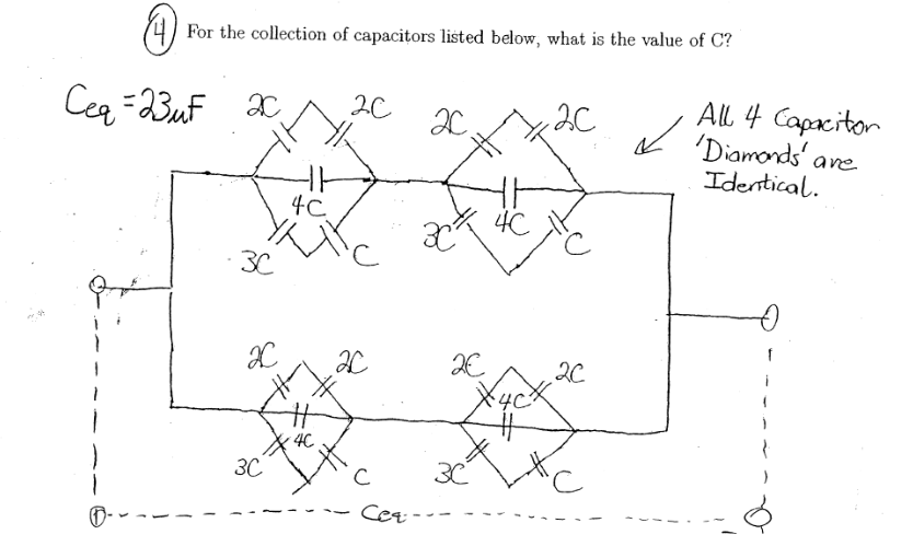 For the collection of capacitors listed below, wha