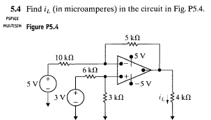 Find iL (in microamperes) in the circuit in Fig. P
