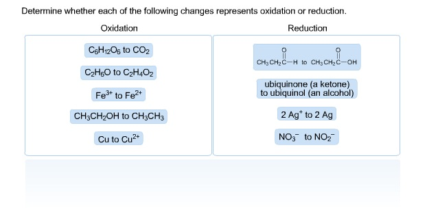 Determine whether each of the following changes re