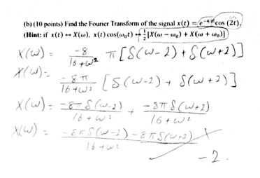 Find the Fourier Transform of the signal x(t) = e