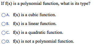 Determine whether f(x) represents a polynomial fun