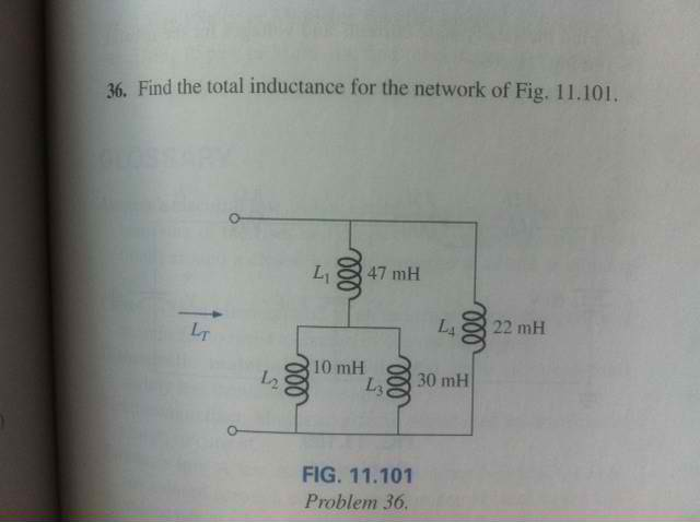 Find the total inductance for the network of Fig.1