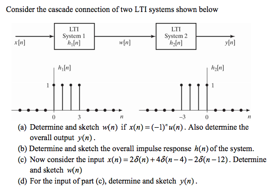 Consider the cascade connection of two LTI systems