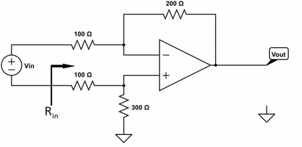 solved  find vout  vin and the input resistance for the fol