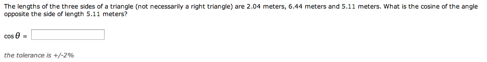 Find the length of each side of the triangle deter