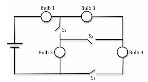 how to draw a bulb in a circuit