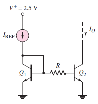 Consider circuit shown. Assume IREF = 200?A and R