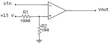 What is the reference voltage for the comparator s