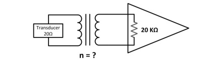 What transformer turns ratio n=? is required to ma