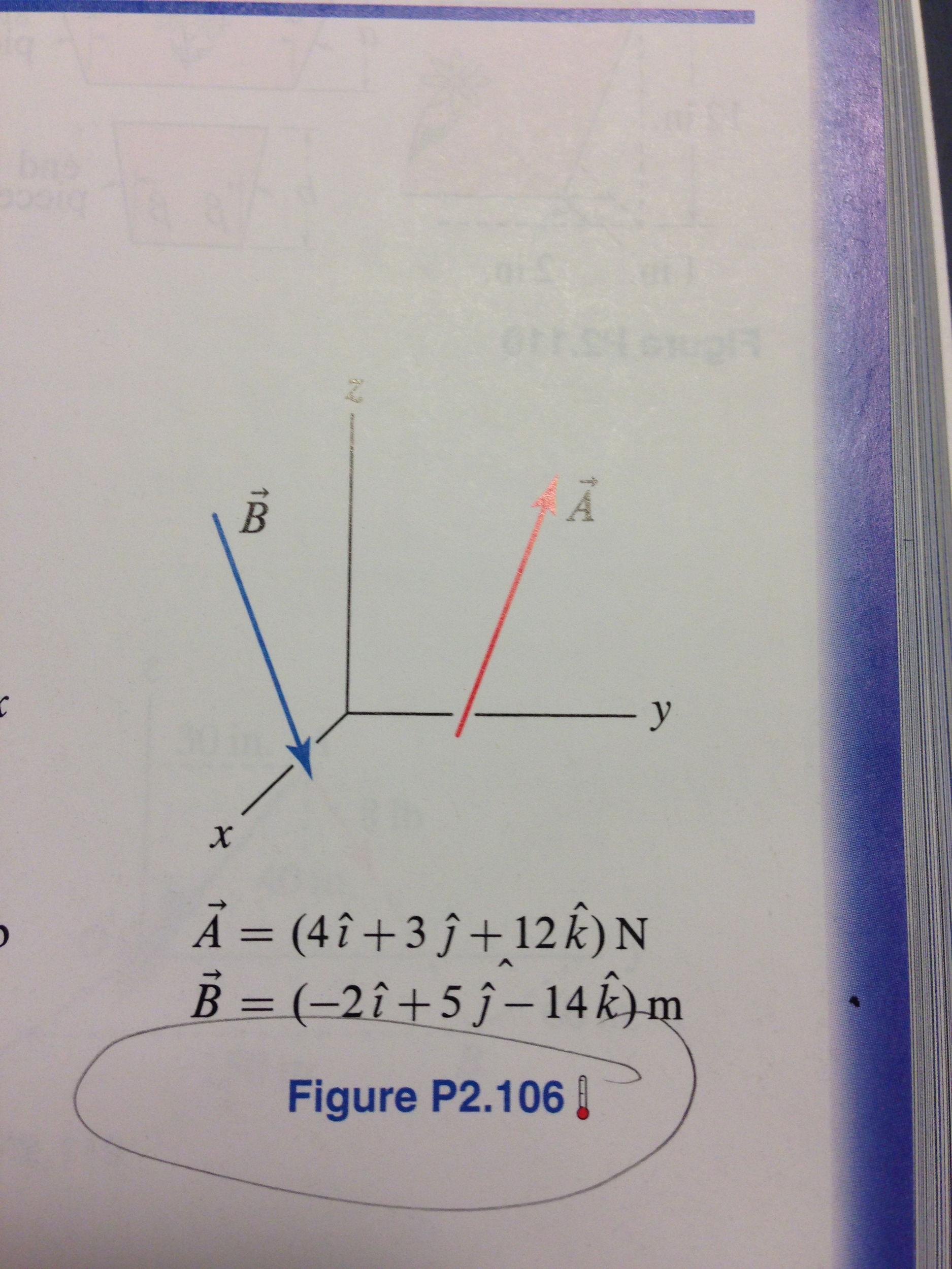 a) Determine the angle between vectors A and B b)