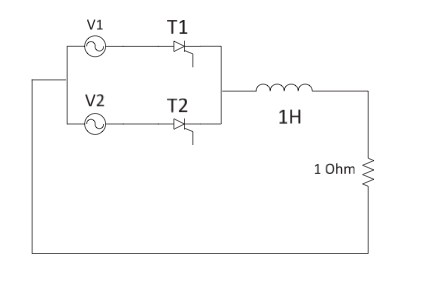 Question 3: A 2-pulse converter is shown below. Th