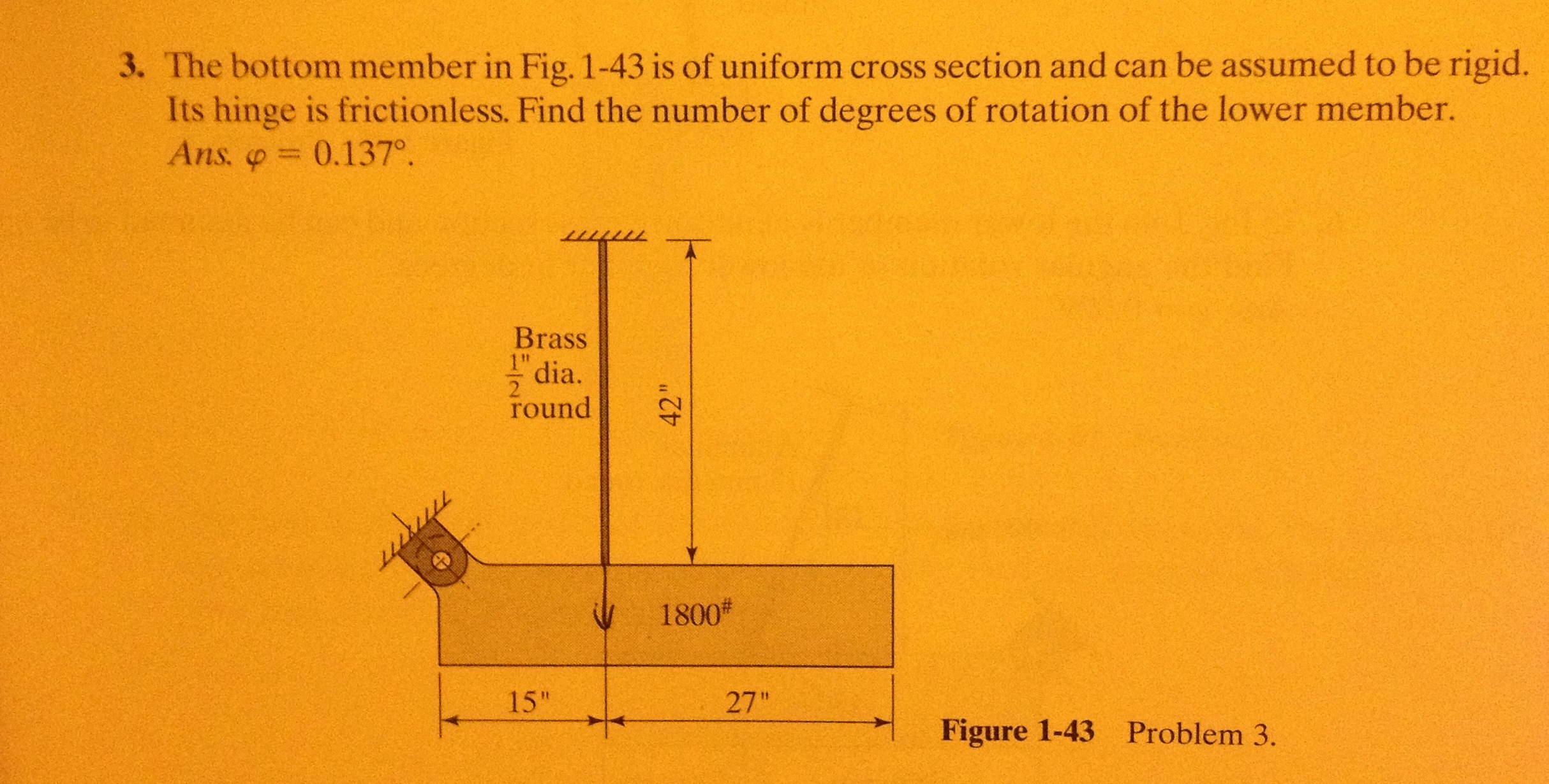The bottom member in Fig. 1-43 is of uniform cross