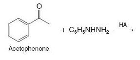 What product would be obtained when acetophenone r