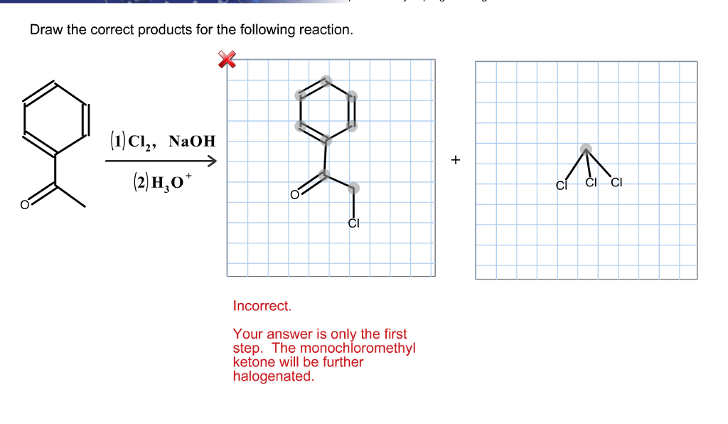 Draw The Correct Products For The Following Reacti... | Chegg.com