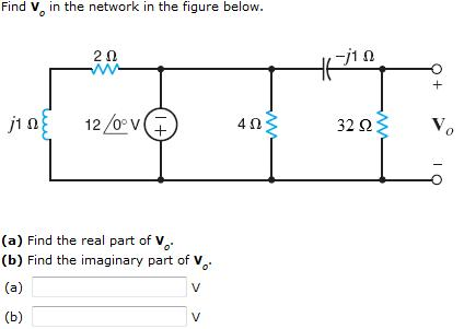 Find V0 in the network in the figure below. Find
