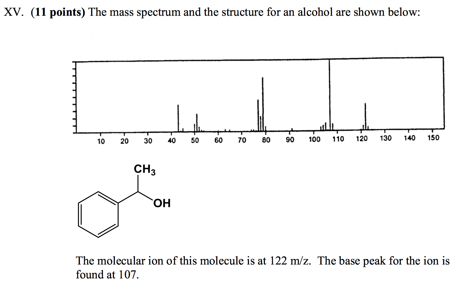 Solved: Can The Molecule Shown Above Undergo A McLafferty ...