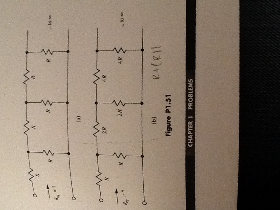 voltage across the middle resistance is zero, no c
