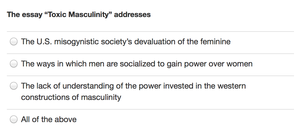 Masculinity essay